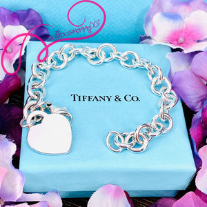 NWOT Tiffany & Co. Heart Tag Charm Bracelet, 7""